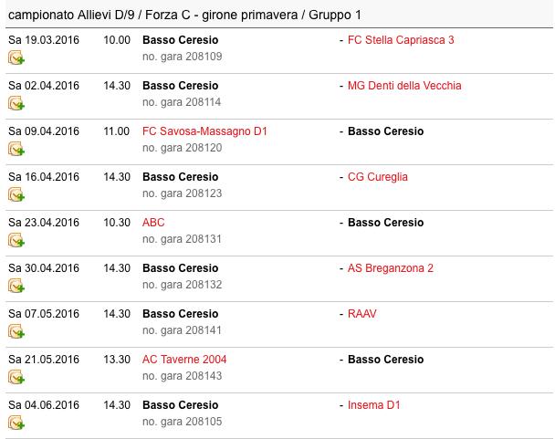 Allievi D Campione - Primavera 2016