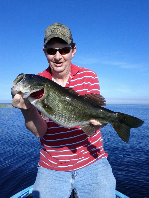 Lake okeechobee top guide mark shepard central florida for Lake okeechobee fishing guides
