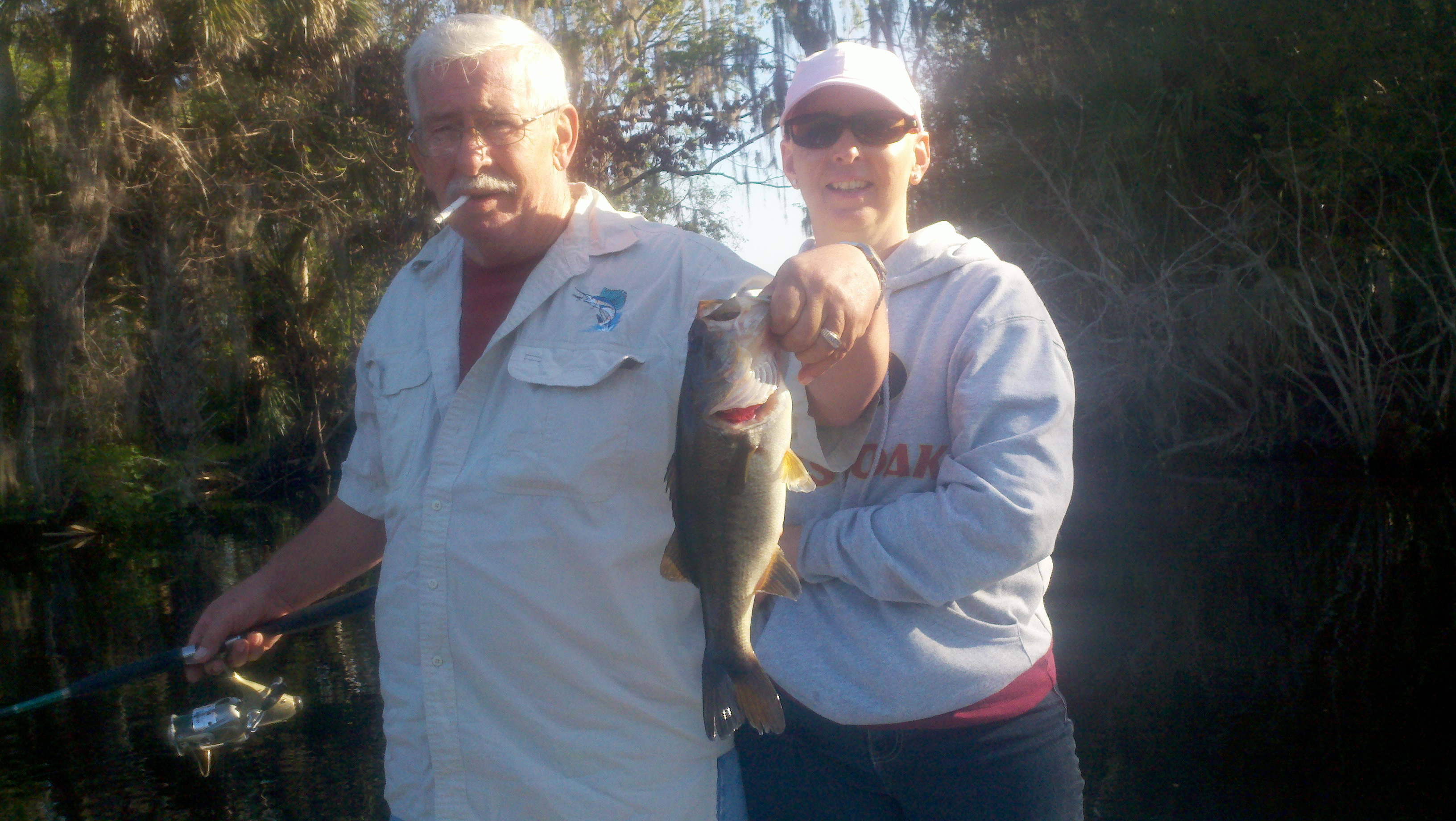 Care free day of bass fishing on st johns river central for Florida free fishing days