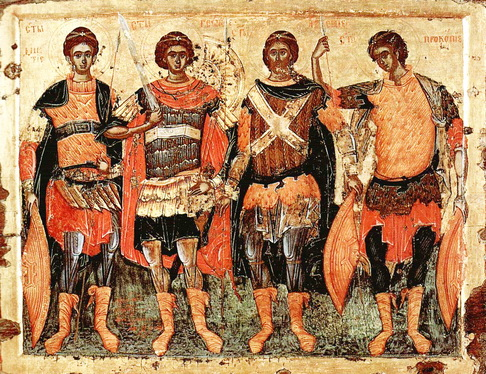Zaštitni Psalam 90 Mt: 91- Psalm Žive pomoći i o Psalmima ikona Sveti ratnici