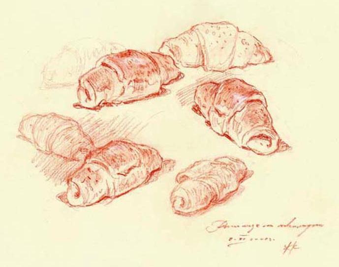 Najbolje kiflice na svetu - recept za slatke kiflice - crtež Željko Komosar