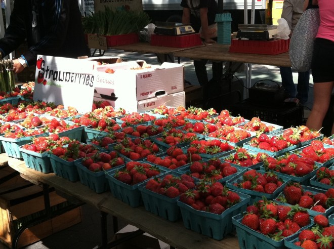 Strawberries at the greenmarket