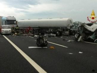 Incidente stradale su A14, coinvolto mezzo di proprietà azienda hinterland Bastiolo