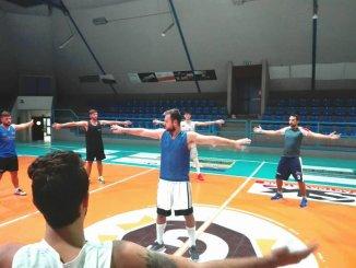 Virtus Bastia la quadra in raduno allenata da coach Nicola Barili