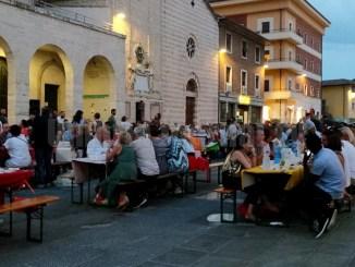 Grande successo del pic nic in Piazza Mazzini a Bastia Umbra