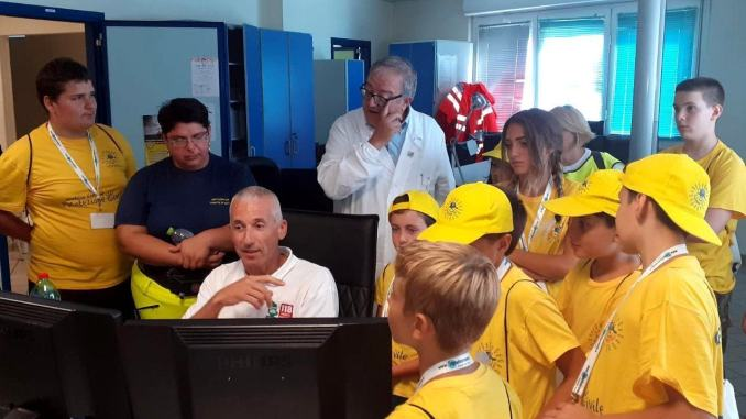 Campus scuola Prociv Bastia Umbra in visita alla centrale del 118