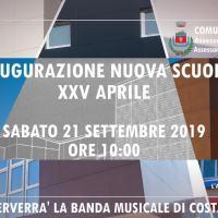 Nuova scuola XXV Aprile, inaugurazione il 21 settembre