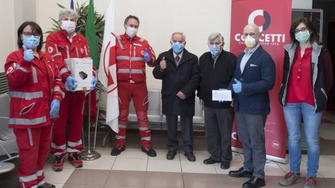 Concetti dona un sanificatore alla croce rossa di Bastia Umbra