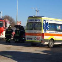 Incidente a Ospedalicchio di Bastia Umbra, con la Captur dentro ad un fosso