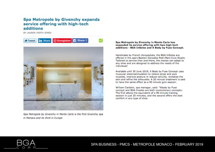 SPA BUSINESS - PMCS - METROPOLE MONACO