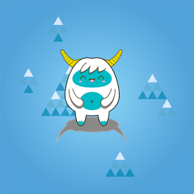 "Illustration ""Happy Yeti"""