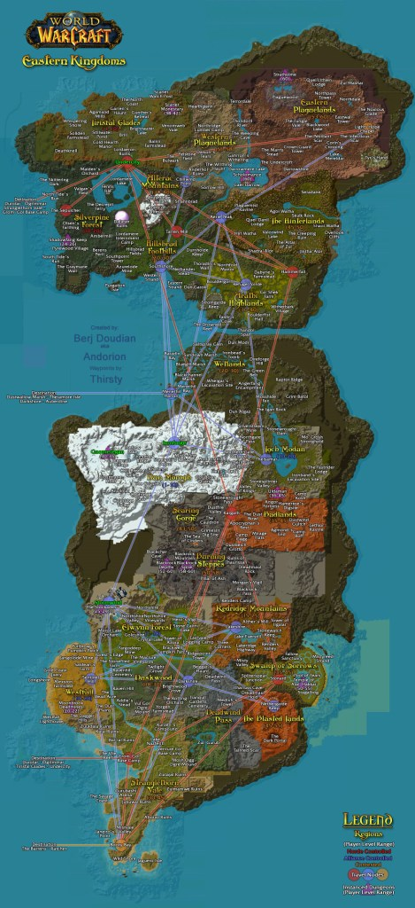 Classic World of Warcraft Azeroth Flightpaths