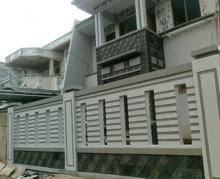 Pagar Tembok Rumah Minimalis Type 36 batako