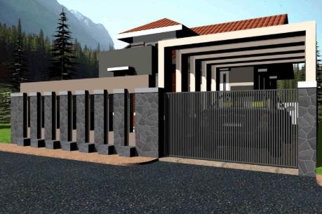 Pagar Tembok Rumah Minimalis Type 36 c