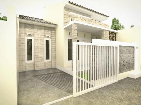Pagar Tembok Rumah Minimalis Type 36 putih