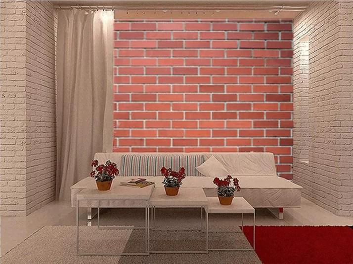 Desain Dinding Bata Merah Tanpa Plester/Expose & Dicat