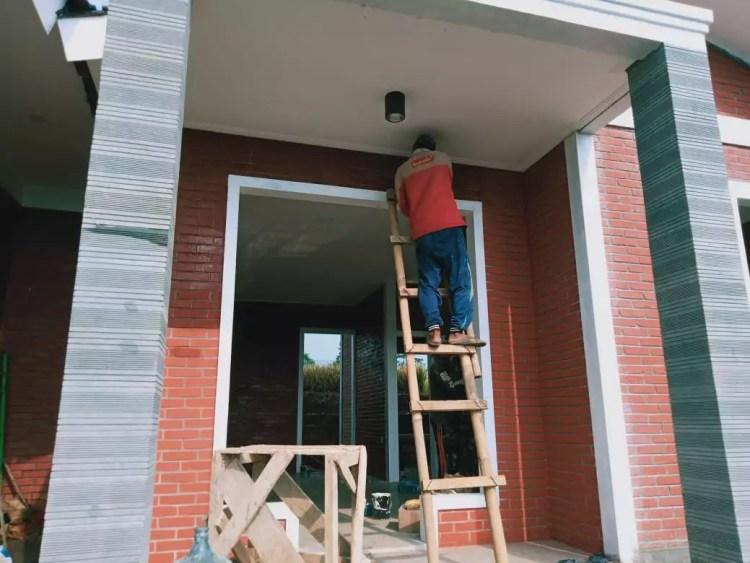 model desain rumah bata merah tanpa plester