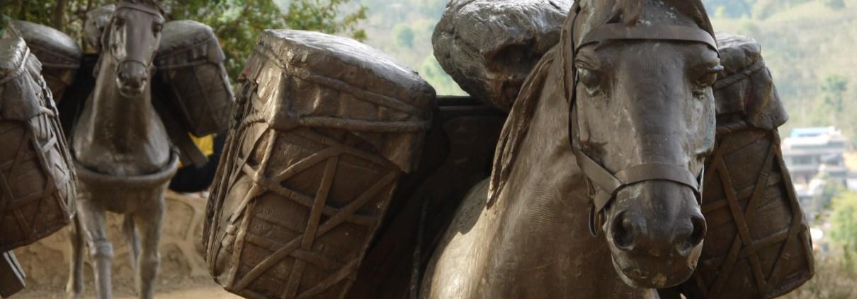 Bronze horse on Tea Horse Road, Yiwu