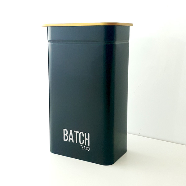 Batch Tea Tin Caddy Large 11x7x20cm