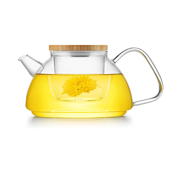 Samadoyo Glass Infuser Teapot - with flower tea