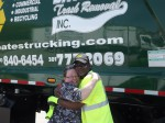 Mayor Karen Rooker and Bates Driver Broderick