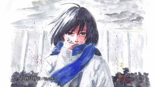 Mikasa of Attack on Titan by Flowers of Evil mangaka Shūzō Oshimi