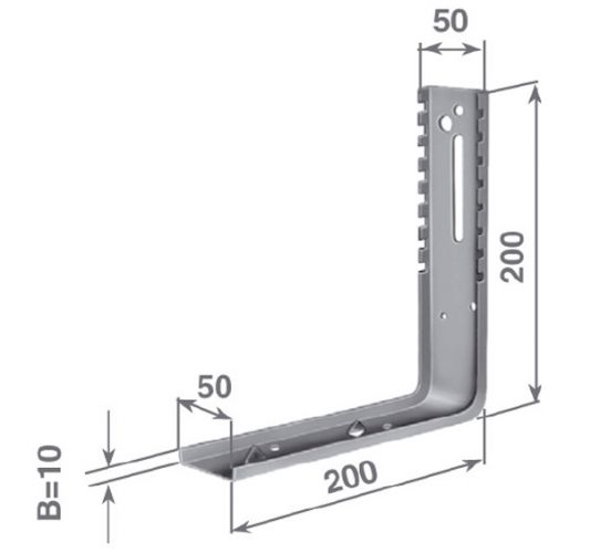 SVTC vertical bracket for double-frame bracket
