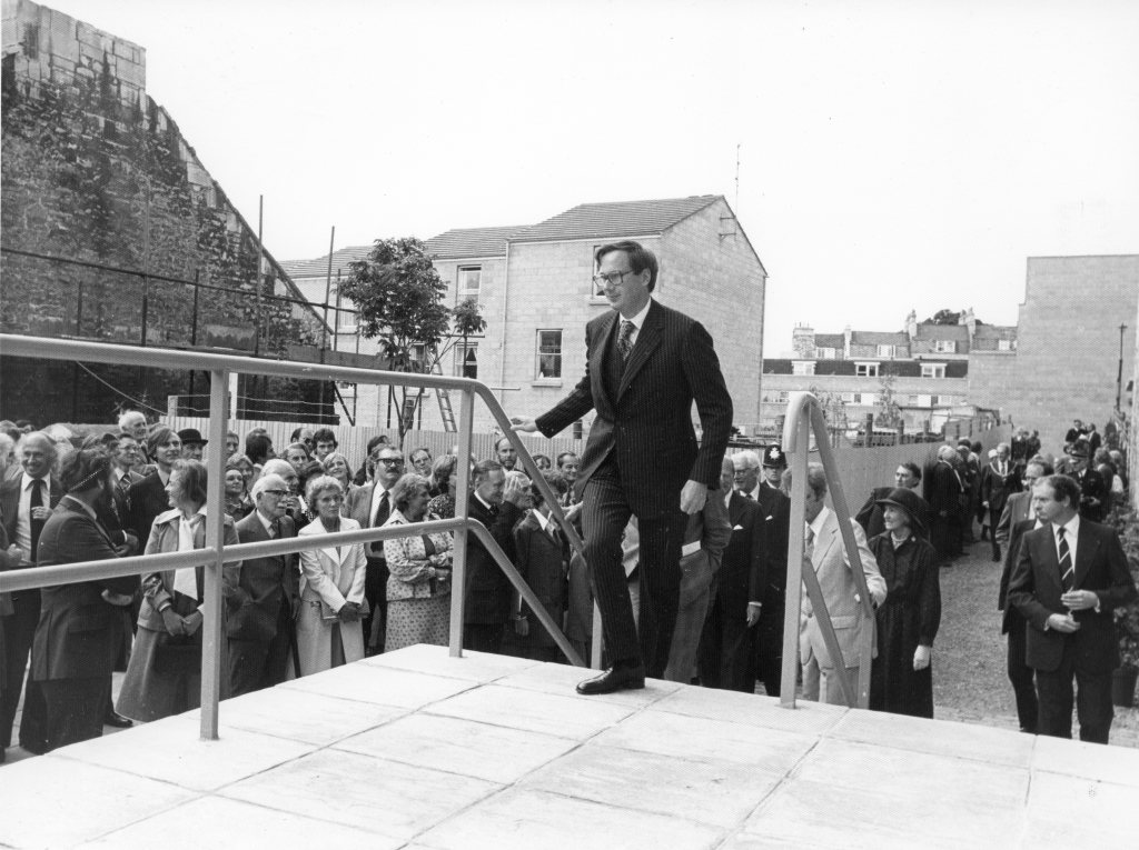 Duke of Gloucester opening the museum in 1978