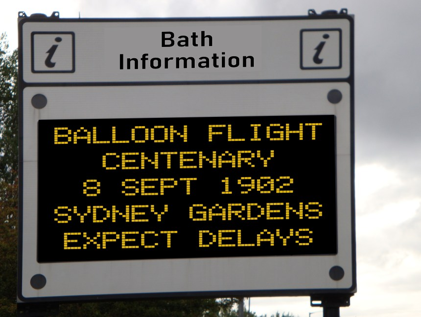 When the balloon went up in Bath