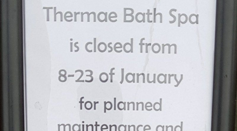 Thermae Spa Bath closed