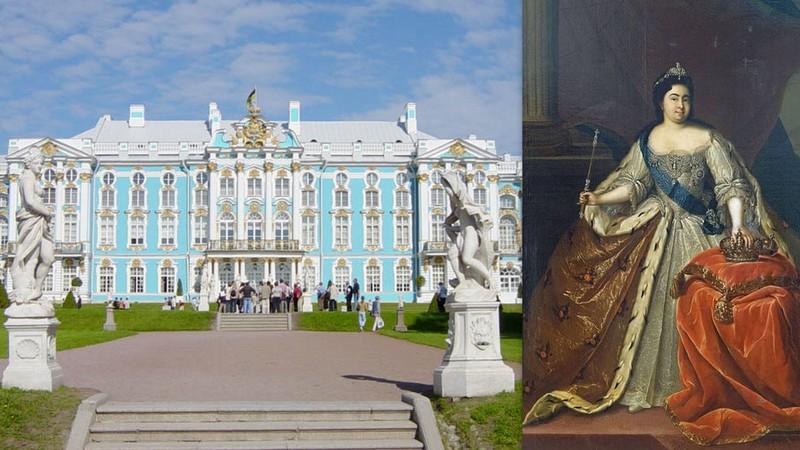 יקטרינה הראשונה, קיסרית רוסיה ובית הקיץ הצנוע שבנתה. כולנו היום קיסרים