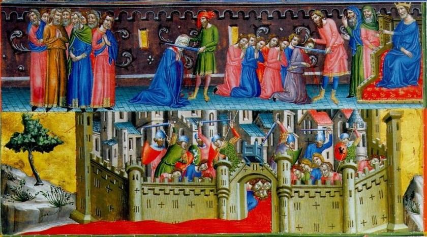 טבח הכופרים בכיבוש ירושלים. אווירה של קדושה.