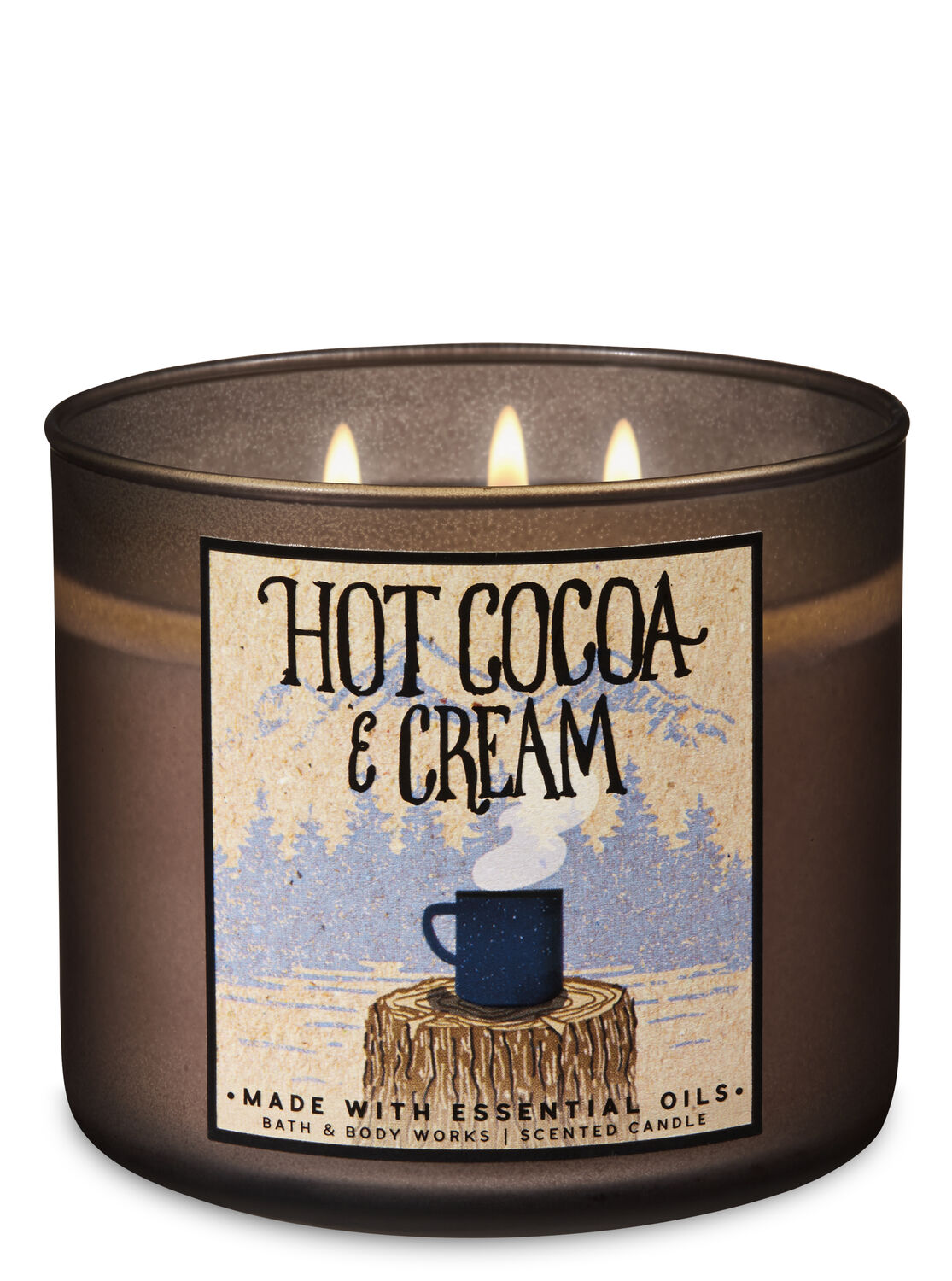 Hot Cocoa & Cream 3-Wick Candle - Bath And Body Works