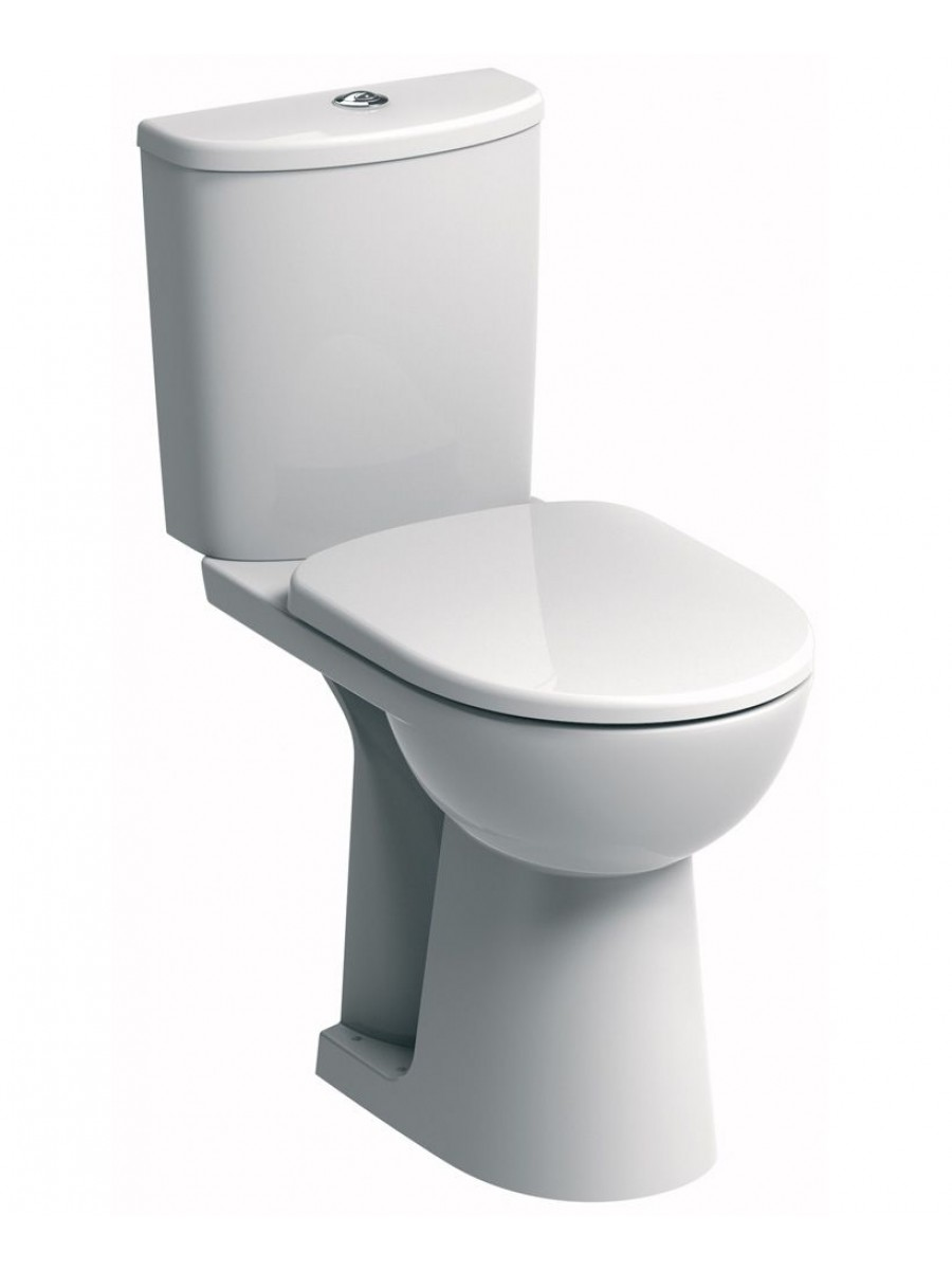 Twyford E100 Round Close Coupled Comfort Height Toilet Soft Close Seat