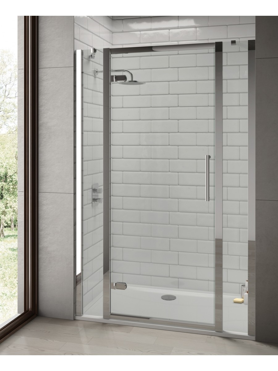 Rival 8mm 1500 Hinge Shower Door With Double Infill Panel 760 Mm Side Panel