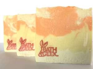 Summertime 100% Olive Oil Castile Soap cross-section