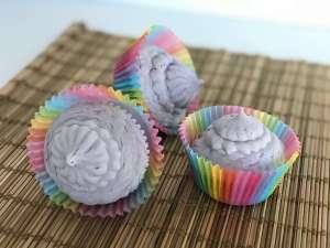 Whipped Fresh Linen Purple Cupcake Soap