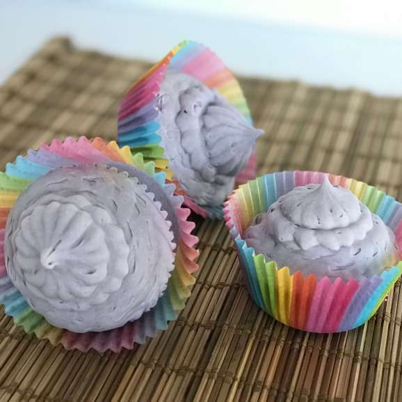Whipped Fresh Linen Purple Cupcake Soap