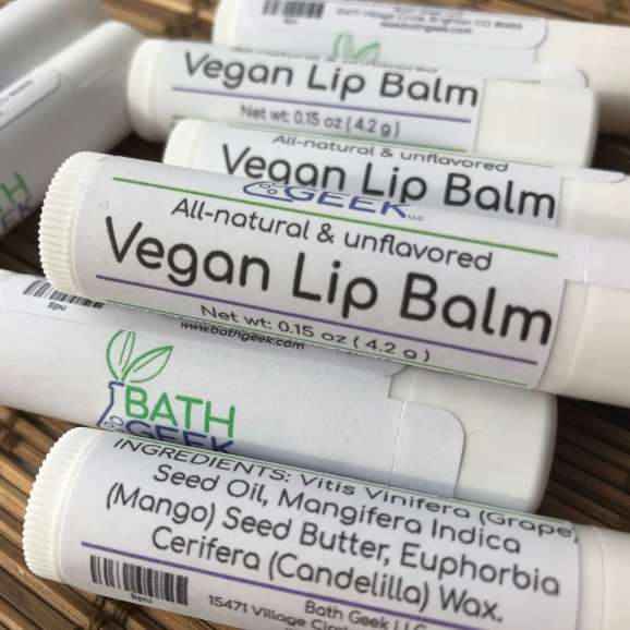 Unflavored Vegan Lip Balm - Close View