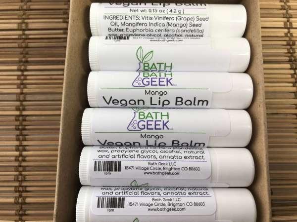 Mango Vegan Lip Balm - Box View