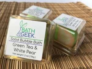 Green Tea & White Pear Bubble Bath - Box View