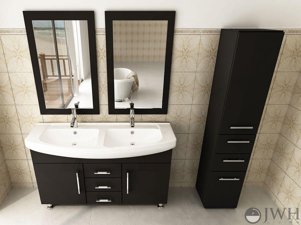 47 Celine Double Bathroom Vanity Espresso Bathgems Com