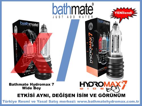 Bathmate Hydromax X30 wideboy adı Hydromax 7 Wide Boy oldu.