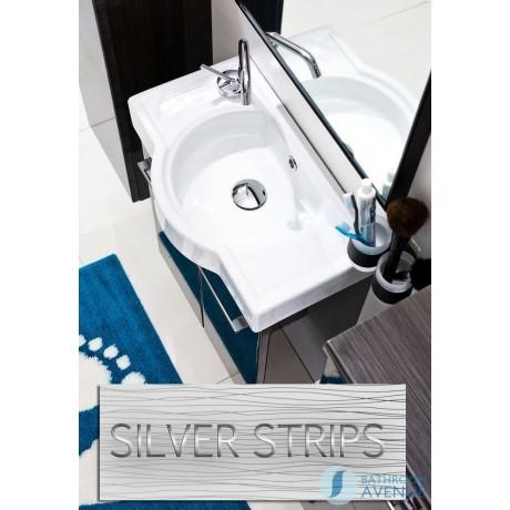 cloakroom small bathroom sink basin cabinet white tramonto space saving slim vanity unit white tramonto