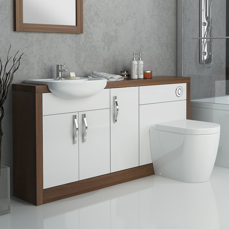 Image Result For Walnut Combination Vanity Unit