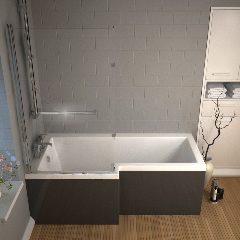 Bathroom Fitted Furniture Patello Shower Bath With Panel