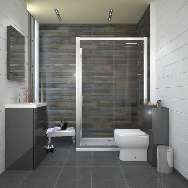 Complete Bathroom Fitted Furniture Patello 1200 Shower