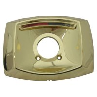 LASCO-Simpatico 31644P Delta Rectangle Shaped Shower Escutcheon Only for Shower Valve, Polished Brass