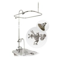Randolph Morris Shower Enclosure with Faucet, Showerhead and Handshower Kit RM168C Chrome