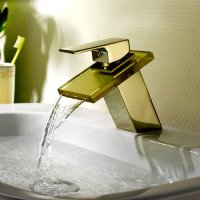 Aquafaucet Waterfall Wall Mount Widespread Bathroom Sink Faucet Bathtub Mixer Tap ,Chrome Finished